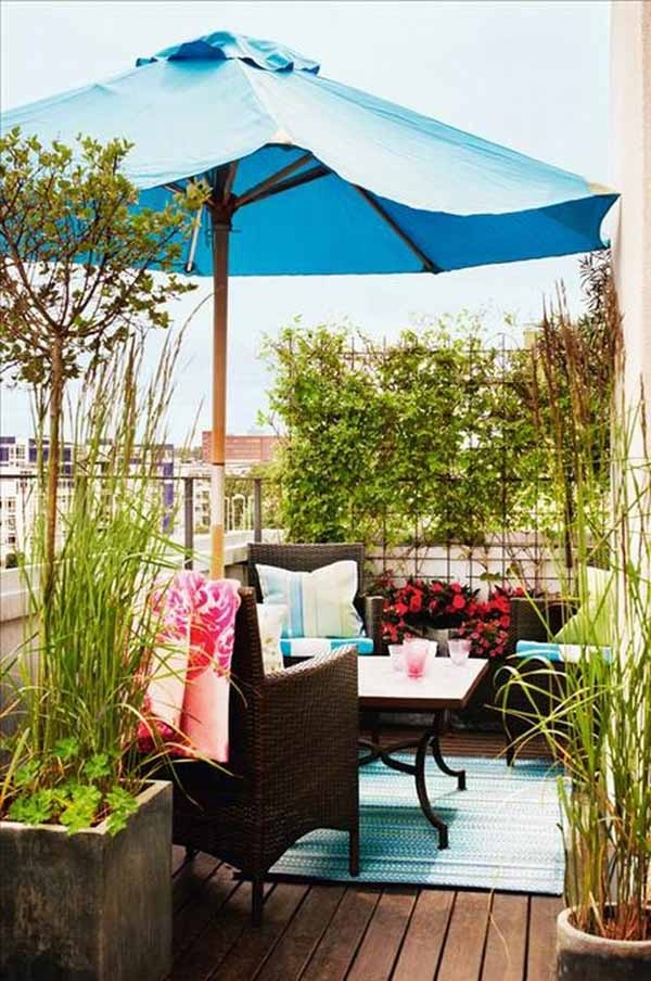 23 amazing decorating ideas for small balcony style for Outdoor balcony decorating ideas
