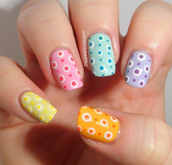 30 Amazing Dots Nail Art Ideas - 30 Amazing Dots Nail Art Ideas - Style Motivation