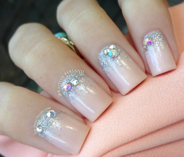 33 Amazing Nail Art Ideas with Rhinestones, Gems, Pearls and Studs - 33 Amazing Nail Art Ideas With Rhinestones, Gems, Pearls And Studs