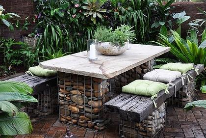 20 Amazing Gabion Ideas for Your Outdoor Area (17)