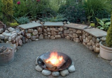 20 Amazing Gabion Ideas for Your Outdoor Area - outdoors, Gabion
