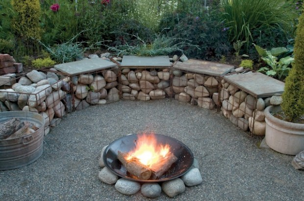 20 Amazing Gabion Ideas for Your Outdoor Area (5)