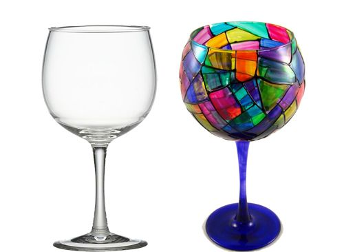 20 creative and interesting things you can do with wine for What paint do you use to paint wine glasses