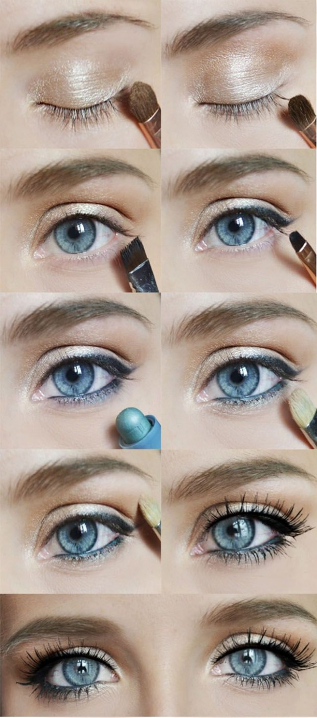 makeup   Blue look Gorgeous 20 Style natural for  tutorial Motivation Eyes Ideas Makeup eye