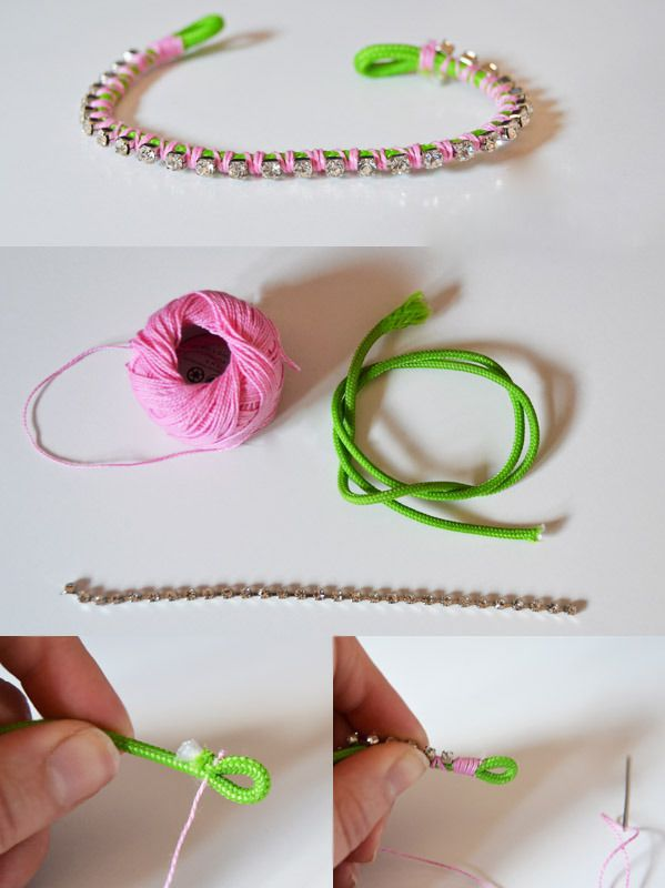 pumps diy go wrap beaded iron bracelet