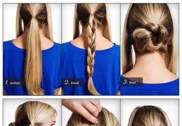 21 Simple and Cute Hairstyle Tutorials You Should Definitely Try It - tutorials, simple, Hairstyles, Cute
