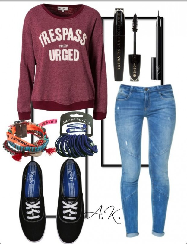 Fabulous School Outfit Ideas for Teenage Girls Back to school outfit #2 by mylifeasagirl10 liked on Polyvore featuring Topshop, adidas Originals, Moschino and rag & .