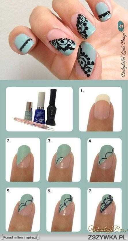 25 fun and easy nail art tutorials style motivation for Easy nail designs to do at home for short nails