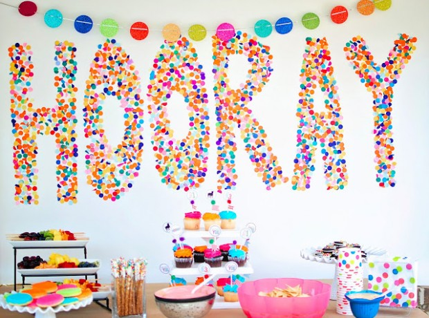 24 great diy party decorations style motivation for Simple party decorations at home
