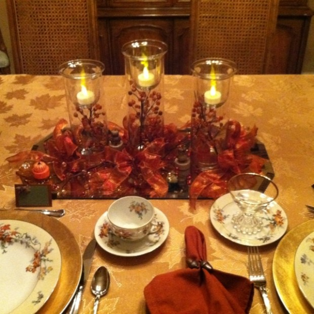 26 Great Fall Table Decorating Ideas (11)