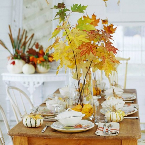 26 Great Fall Table Decorating Ideas (18)