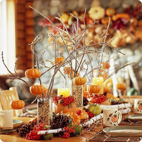 26 Great Fall Table Decorating Ideas (19)