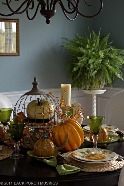 26 Great Fall Table Decorating Ideas (2)