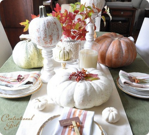 26 Great Fall Table Decorating Ideas (21)