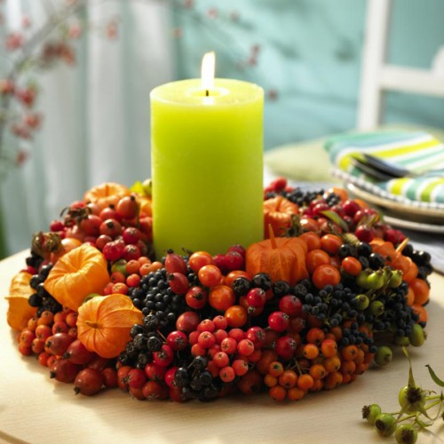 26 Great Fall Table Decorating Ideas (23)