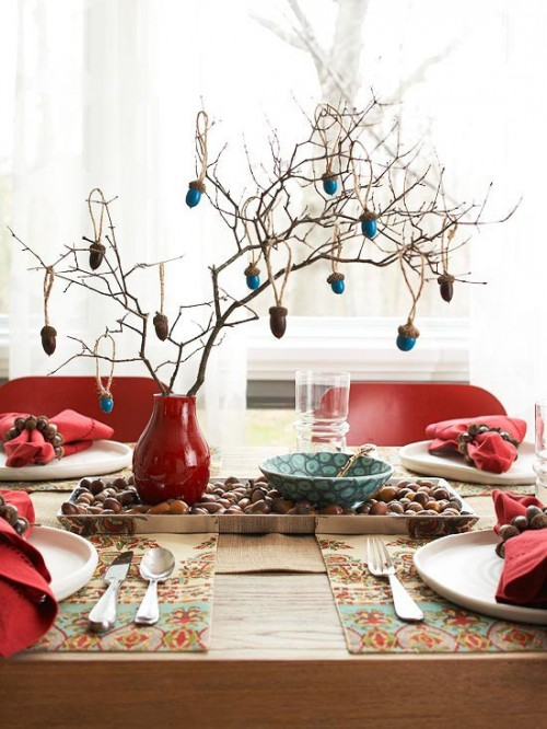 26 Great Fall Table Decorating Ideas (5)