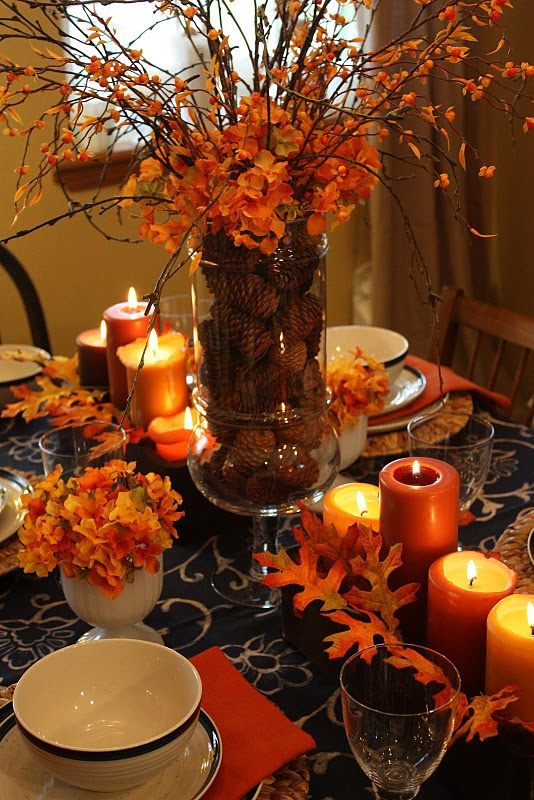 26 Great Fall Table Decorating Ideas (8)