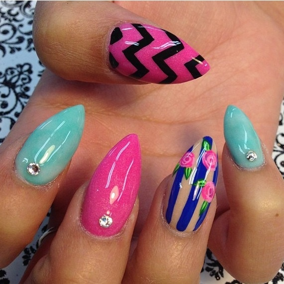 27 Amazing Pointed Nail Art Ideas (19)