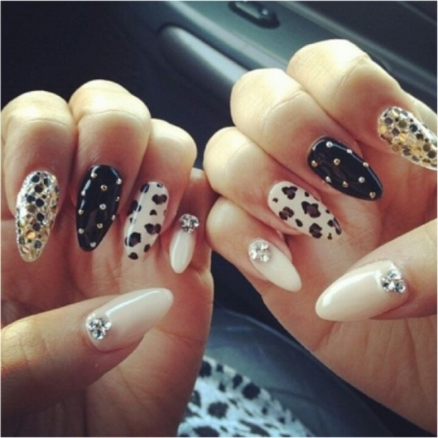 Oval Nails Design Tumblr 25 Amazing Pointed Nai...