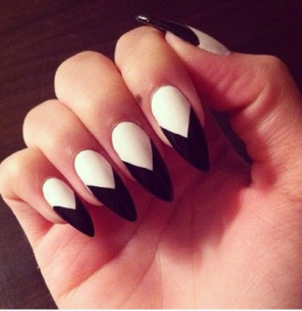 25 amazing pointed nail art ideas style motivation 25 amazing pointed nail art ideas prinsesfo Gallery