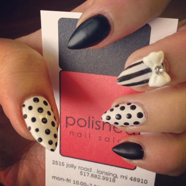 25 amazing pointed nail art ideas style motivation 25 amazing pointed nail art ideas prinsesfo Choice Image