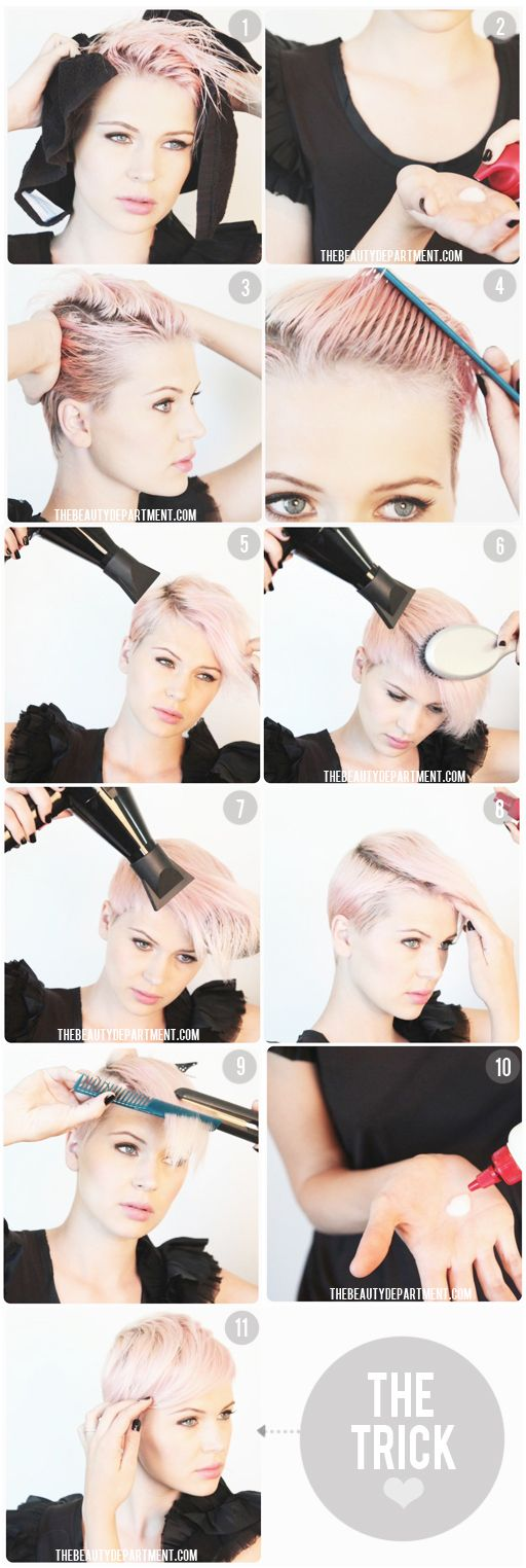 Great Short Hairstyle Ideas and Tutorials (14)