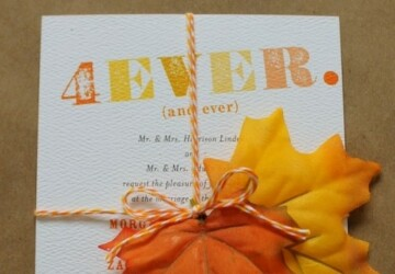 22 Gorgeous Fall Wedding Invitations Ideas - weddings invitations, ideas, Fall