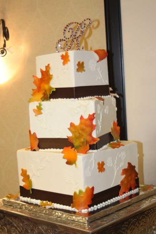 square wedding cakes with fall flowers 24 great ideas for fall wedding cake decoration style 20419
