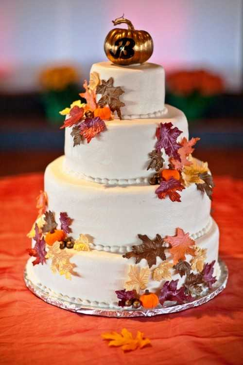 24 great ideas for fall wedding cake decoration style for Autumn cake decoration