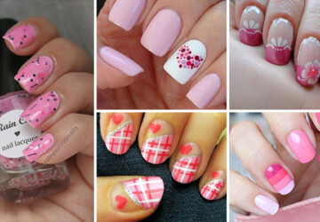 40 Stylish Pink Nail Art Ideas - Pink, nails, Nail Art, ideas