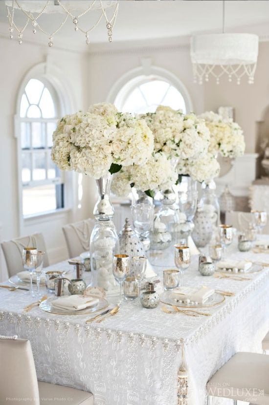 20 Pure White Wedding Decor Ideas For