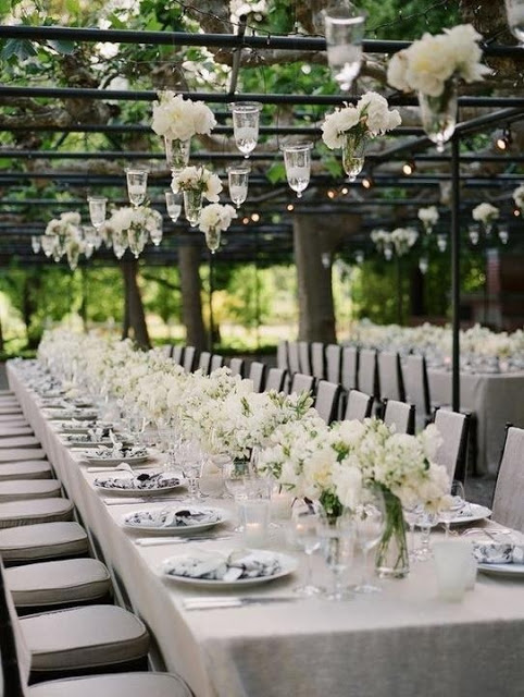 Decoration For Wedding | 20 Pure White Wedding Decor Ideas For Romantic Wedding Style