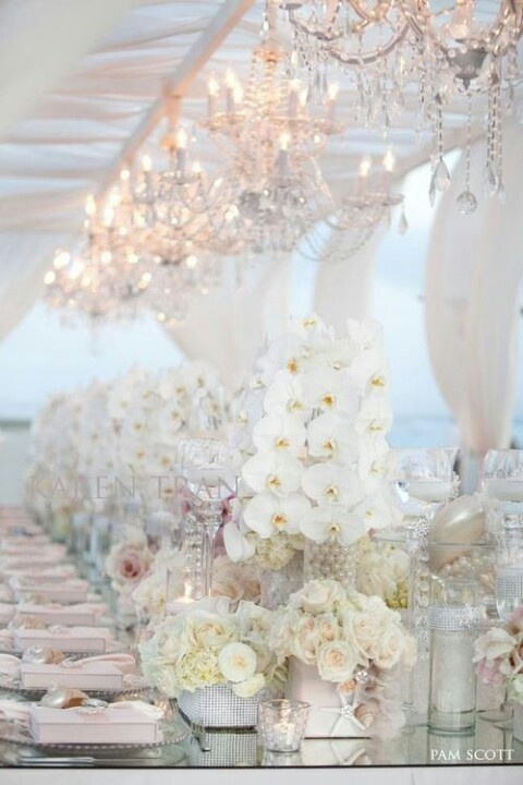 20 pure white wedding decor ideas for romantic wedding for All white wedding decoration ideas