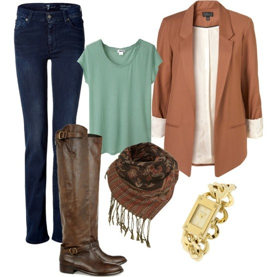 20 Stylish Combinations in Bright Colors for Fall Days (17)