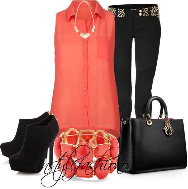 20 Stylish Combinations in Bright Colors for Fall Days (8)