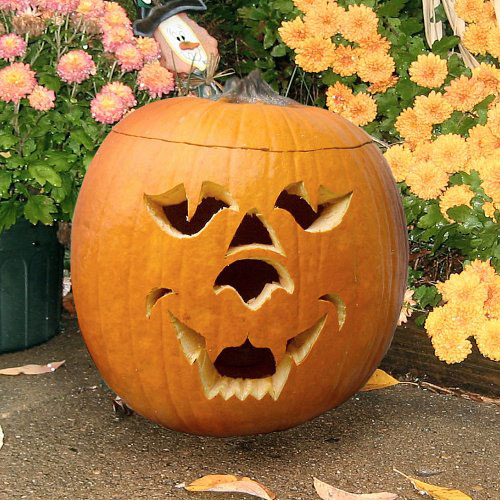 22 great creepy pumpkin decorations for halloween style - Idee deco citrouille halloween ...