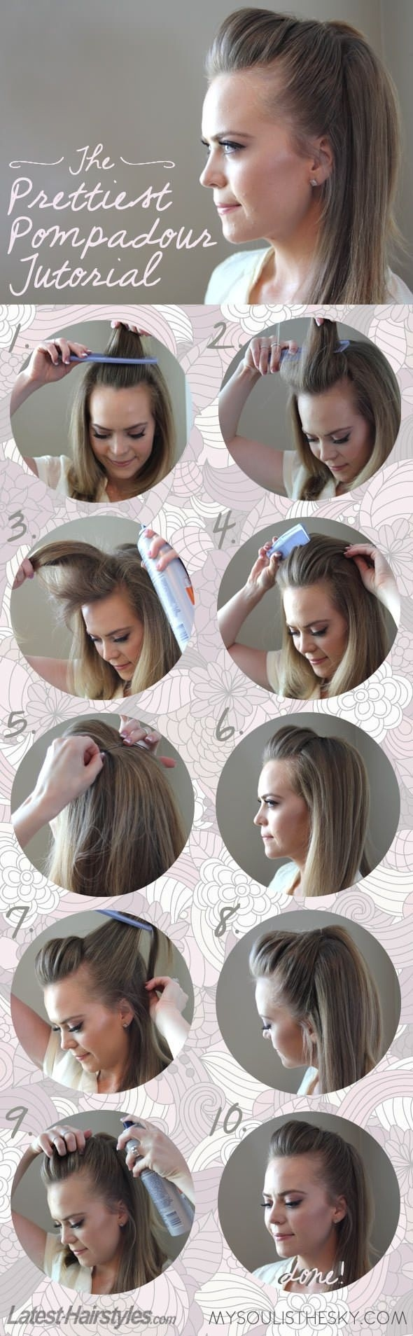 23 Gorgeous Hairstyle Ideas and Tutorials that can be done in 10 minutes  (10)