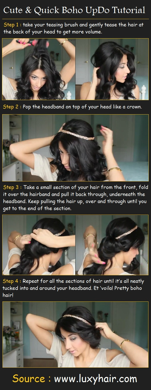 23 Gorgeous Hairstyle Ideas and Tutorials that can be done in 10 minutes  (18)