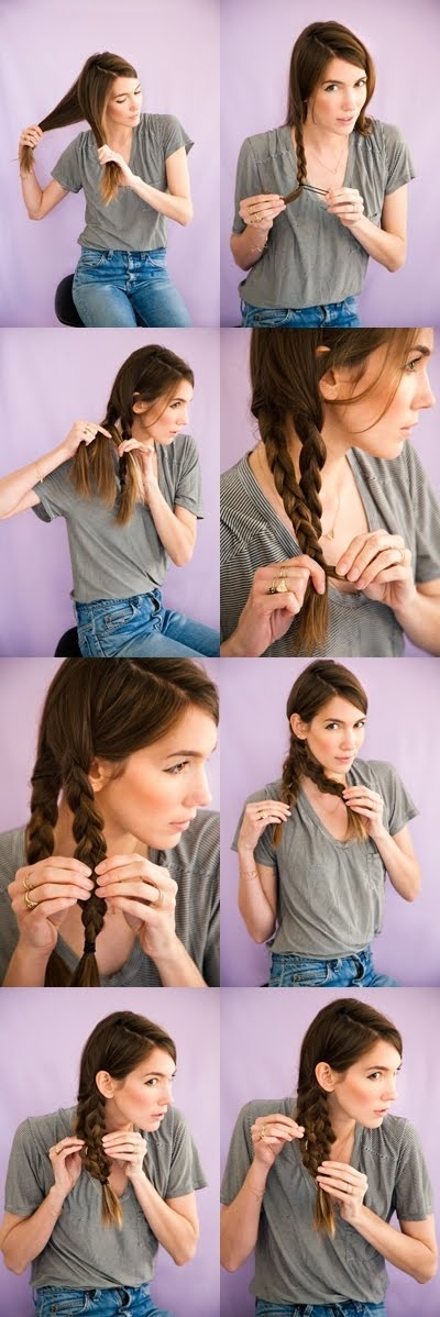23 Gorgeous Hairstyle Ideas and Tutorials that can be done in 10 minutes  (7)