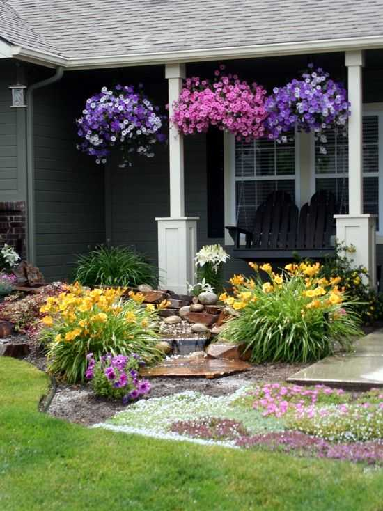 Landscape design ideas pictures front yard mediterranean for Beautiful front yards