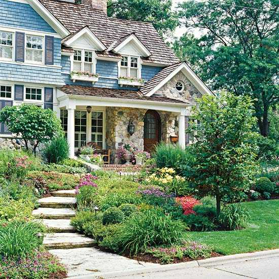 28 beautiful small front yard garden design ideas style for Landscape design ideas front of house