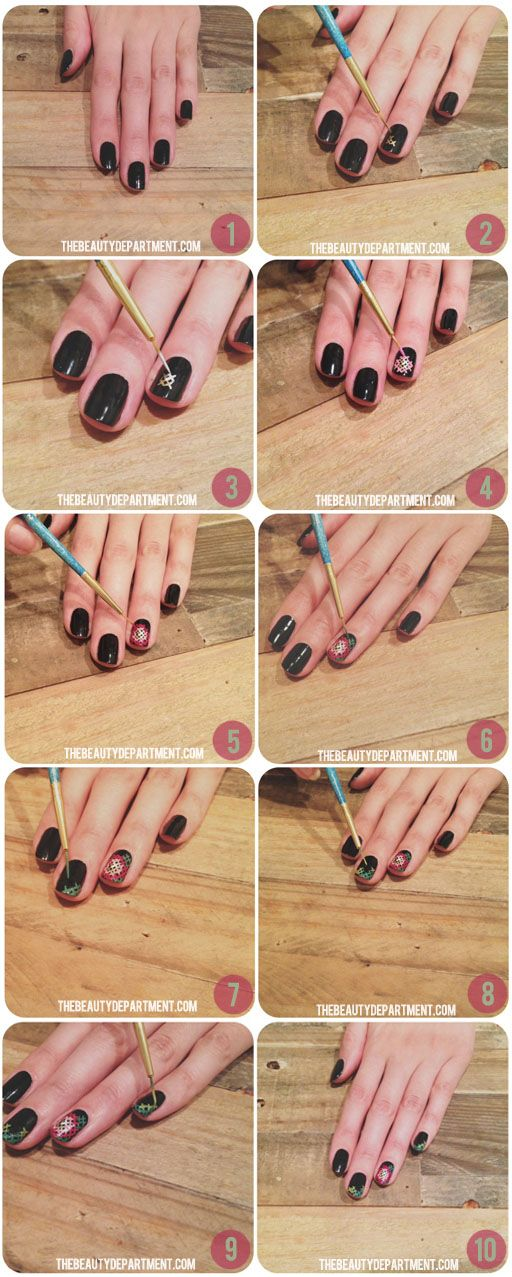 25 Great Nail Art Tutorials for Cute and Fancy Nails (11)