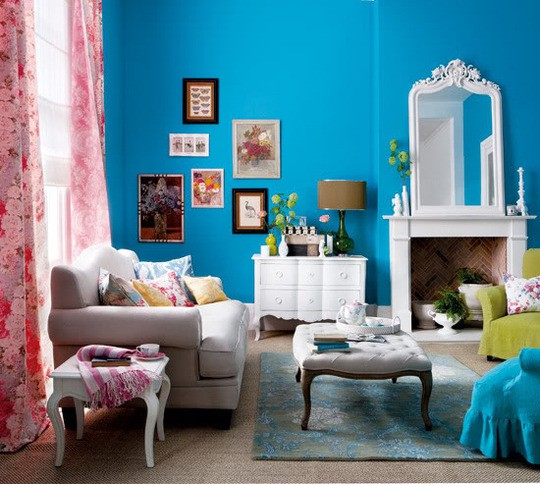 26 Amazing Ideas for Colorful Living Room (11)