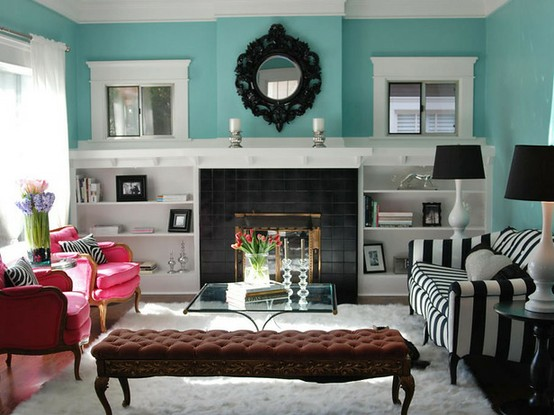 26 Amazing Ideas for Colorful Living Room (13)