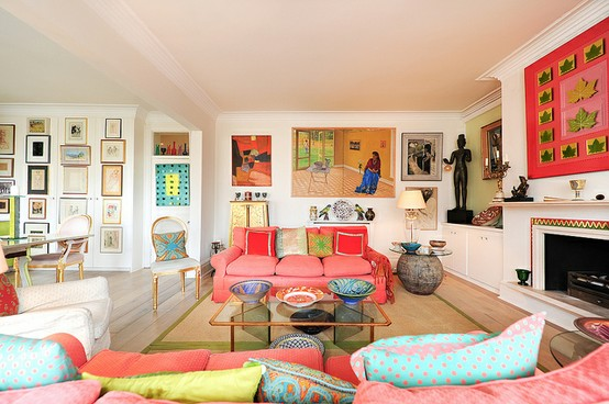 26 Amazing Ideas for Colorful Living Room (14)