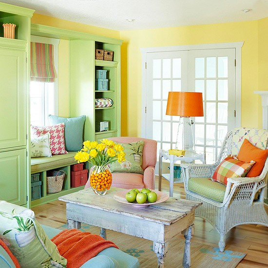 26 Amazing Ideas for Colorful Living Room (23)