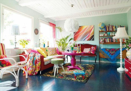26 Amazing Ideas for Colorful Living Room