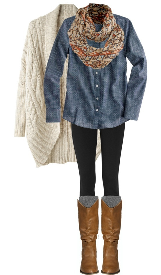 27 Casual and Cozy Combinations for Fall (21)