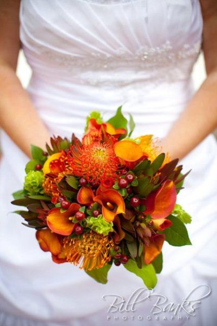 27 Romantic Fall Wedding Bouquets (14)