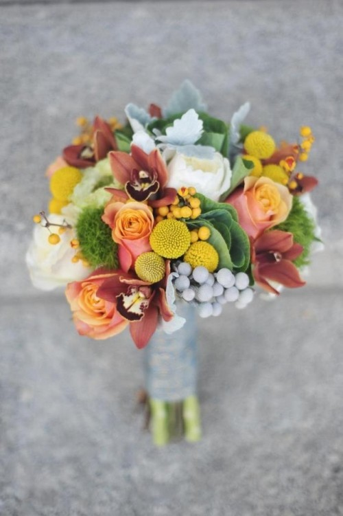 27 Romantic Fall Wedding Bouquets (16)